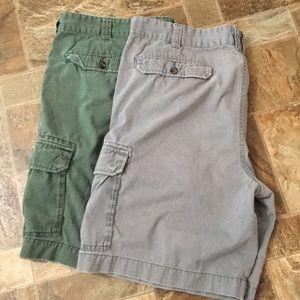 Set of 2 Merona cargo shorts